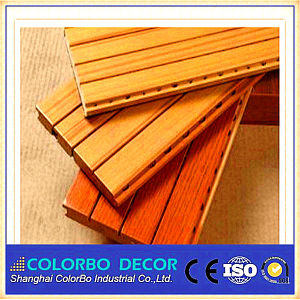 Hall Decoration Flame Retardant Perforated Wooden Acoustic Wall Panel pictures & photos