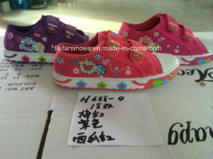 Children Cheap Stock Sports Shoes Injection Canvas Shoes (H688-4) pictures & photos