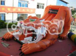 Tiger Commercial Giant Inflatable Slide for Amusement Center Park Chsl103 pictures & photos