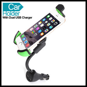 Universal Dual USB Car Charger Holder for Mobile Phone GPS pictures & photos