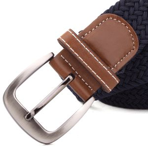Leather Unisex Knitted Elastic Braid Belt (RS-131257B) pictures & photos