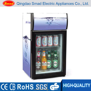 Supermarket Commercial Glass Display Table Top Mini Drink Cooler pictures & photos