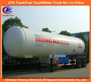 Heavy Duty 2 Axles ASME Standard LPG Gas Tanker Semi Trailers 40.5cbm for Sale pictures & photos