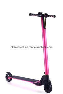 2016 The Lightest Carbon Fiber Foldable Electric Scooter- (Black, White, Pink) pictures & photos