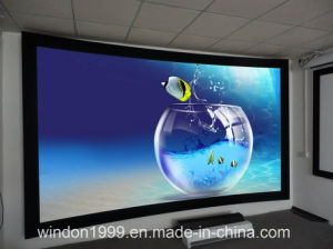 """120"""" 16: 9 Curved Fixed Frame Screen, Curved Projection Screens pictures & photos"""