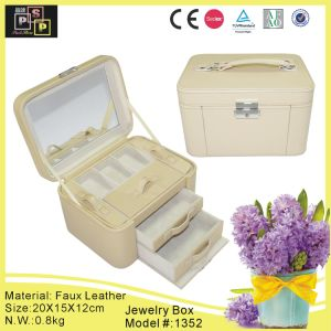 High Quality Classical Luxury White Leather Jewelry Set Case (1352) pictures & photos