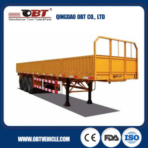 Tri Axle Sidedrop Semi Trailer/ Side Drop Trailer pictures & photos