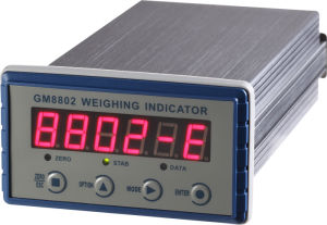 Weight indicator with analogue output