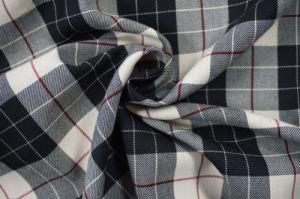 Checks Tweed Wool Fabric Foe Suit