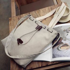 Fashion White Canvas Fabric Handbags Summer Shoulder Bags for Women pictures & photos