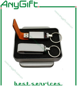 Leather USB Flash Drive with Embossed Logo 08 pictures & photos
