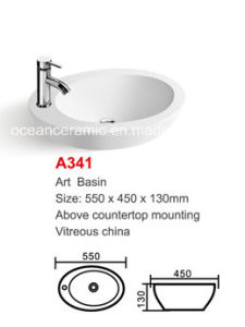 Oval Ceramic Wash Sink (No. A341) Sanitary Ware pictures & photos