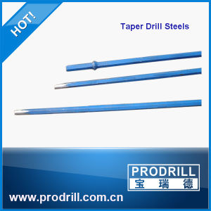 Chisel Cross Button Bit Tapered Steel Drill Rod for Quarry pictures & photos