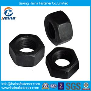 Carbon Steel Black A563 2h Heavy Hex Nuts for Industry pictures & photos