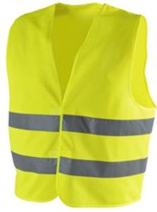 100%Polyester Knitting Fabric Traffic Safety Vest (DFV1019) pictures & photos