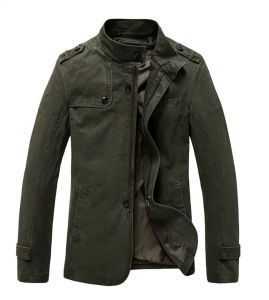 Men fashion Military Cotton Leisure Jacket pictures & photos