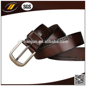 Fashion Men′s Leather Belt with Pin Buckle (HJ3003)