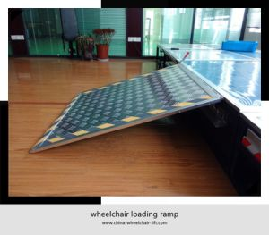 Aluminum Wheelchair Loading Ramp for City Bus with Loading Capacity 350kg pictures & photos
