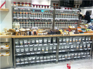 Multifunction 4 Tiers Chrome Metal Wire Shop Display Shelf pictures & photos