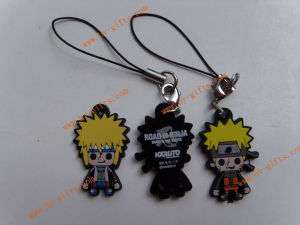 PVC Mobile Phone Strap, Rubber Phone Padent, Naruto Anime Phone Accessories
