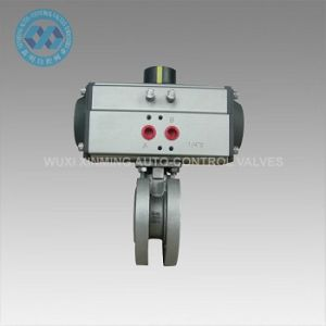 Vacuum Ball Valve/Thin Ball Valve/Wafer Ball Valve with Pneumatic Actuator pictures & photos