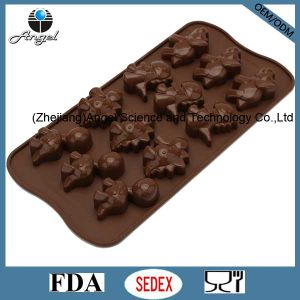 12-Cavity Silicone Cookie Tool Insect Shape Chocolate Baking Tool Si07