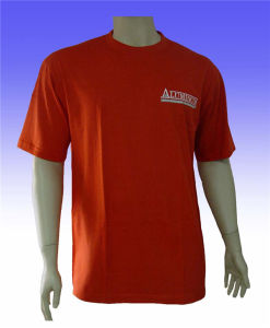 Plain Cotton T-Shirt with Custom Logo Printed pictures & photos