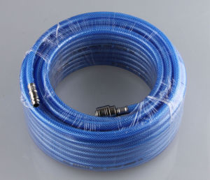 20 Bar PVC Braided Hose 6X11 mm with Europe Coupler CE Approved pictures & photos