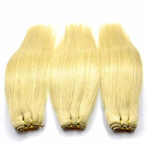 Blonde Brazilian Remy Human Hair Weft (30inch-Straight) pictures & photos