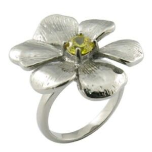 Fashion Women Stainless Steel Flower Diamond Ring pictures & photos