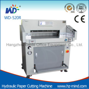 (WD-520R) 80mm Hydraulic Program-Control Paper Cutting Machine pictures & photos