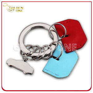 Promotion Gift Key Chain with Metal & Leather Charm pictures & photos