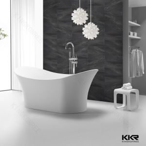 Kkr Bathtub Free Standing Solid Surface Soaking Tubs pictures & photos