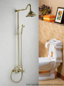 Golden Plated Bathroom Bath Faucet (MG-7358) pictures & photos