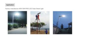 Integrated Solar LED Street Light pictures & photos