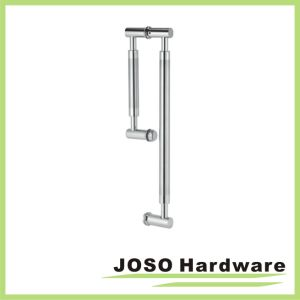 Brushed Stainless Back-to-Back Straight Combination Push and Pull Handle Set pictures & photos