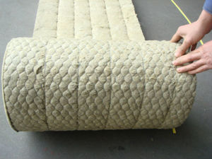 China High Density Rock Wool Blanket with Wire Mes Insulation Material Heat Resistant ISO on Sale