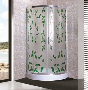 Patterned Glass Shower Enclosure (ADL-8048) pictures & photos