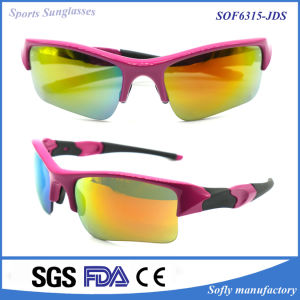 Women′s Fashion Designer Sport Polarized Tr90 Sunglasses with Rubber Temple pictures & photos