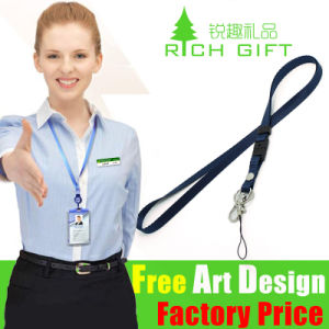 Custom Ribbon Heat Transfer Printed Polyester Lanyard for ID Card pictures & photos