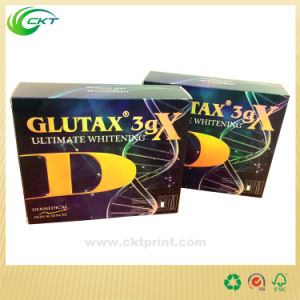 Product Packaging Box with Gold Foil, Folding Cartons (CKT-CB-427)