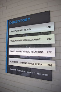 Building Floor Lobby Stair Entry Directory Sign pictures & photos