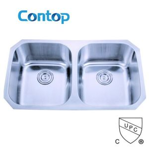 Double Bowl Stainless Steel Kitchen Sink with Cupc Approval pictures & photos