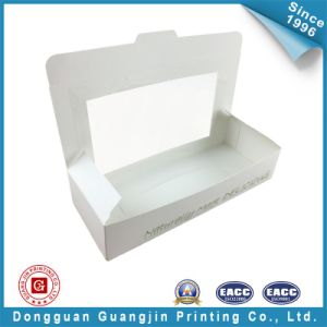 White Color Paper Food Packaging Box with Window (GJ-box143) pictures & photos