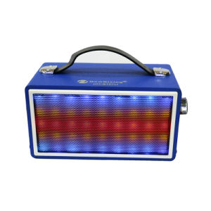Exclusive Agency Wooden Case Bluetooth Speaker with Belt LED Light