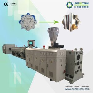 Conical Twin Screw Extruder for Making UPVC/MPVC/CPVC Pipe pictures & photos