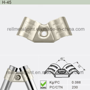 Nickel Plated Metal Joint for Pipe Racking System (H-45) pictures & photos