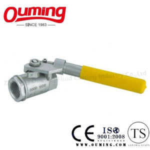 2PC Stainless Steel Threaded Ball Valve with Spring Handle pictures & photos