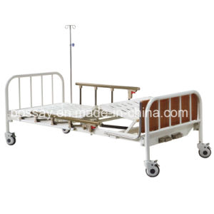 Two Cranks Patient Bed Manual Adjustable Bed pictures & photos