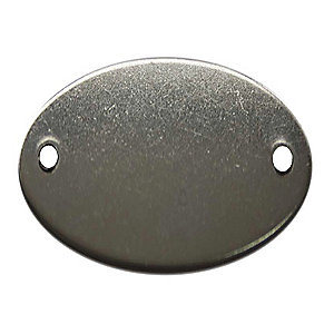 Oval Stainless Steel Blank Tag (20Y559)
